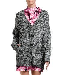 Melange Multi Designer Store Melange Knit Boyfriend Cardigan W Lace In Multi Pattern