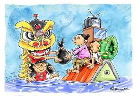 Telusuri dan download gratis 3 000 gambar gajah kartun animasi terbaik kualitas hd. Kartun Imlek 2020 Bersama Hadapi Musibah