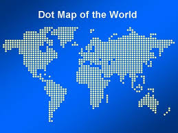Map Of The World For Powerpoint Dot Map Of The World Template