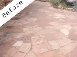 photo of superior stone sealers houston tx united states red flagstone patio