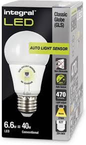 Integral E27 Led Lamp 55w Dag En Nacht Sensor 2700k Warm Wit 1 Stuk