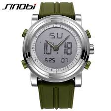 SINOBI Men's Sports Quartz <b>Watch</b> Wristwatch Man Military <b>Watches</b> ...