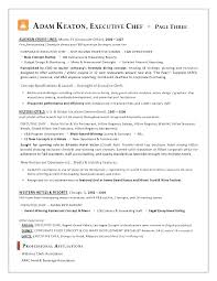 Executive Chef Resume Template Chef Resume Examples Free Executive ...