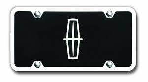 lincoln logo black. Interesting Lincoln Lincoln Logo Black License Plate  Vanity Tag With Chrome Frame