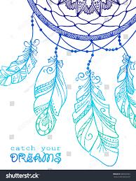 Dream Catcher Card Designs Card Design Hand Drawn Talisman Dream Stock Vector Royalty
