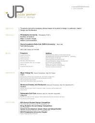 Resume By Julia Porter At Coroflot Com Resume Resume