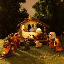 christmas stable. Modren Christmas Christmas Nativity Scene Resin Figurines Ornament Set  Stable For Home Church Decoration In