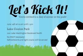 Football Party Invitations Templates Free Soccer Invite Templates Under Fontanacountryinn Com