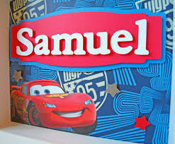 Personalized Bedroom Decor Disney Cars Personalized Childrens Decor Boys Room Art