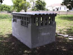 Diy Disaster Prepardness 8x16 Concrete Block Walls With Locked Gate And  Steel Roof For Storage Of Home ...