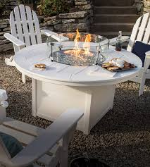 Colored wood patio furniture Wrought Iron Shop Fire Pit Tables Furniture Barn Usa Polywood Outdoor Furniture Rethink Outdoor Polywood Official Store