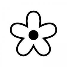 花のシルエット02 無料のaipng白黒シルエットイラスト