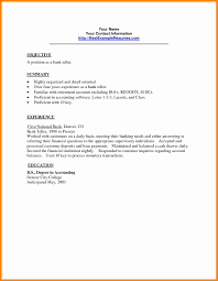 35 Sample Resume For A Bank Teller With No Experience Teller