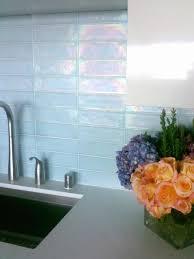 image of blue glass tile backsplash