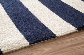 royal blue and white striped rug designs