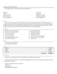Construction Proposal Letter Template Project Proposal Letter Construction Bid Of A Getpicks Co