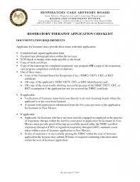 Resume Example Certified Respiratory Therapist Resume Resume