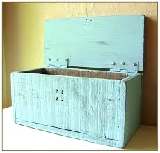 large wooden box with hinged lid whole