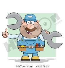 toolbelt clipart. clipart of a cartoon white male mechanic wearing tool belt, giving thumb up toolbelt