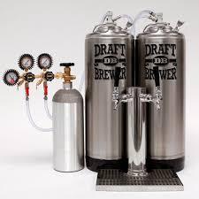 draft brewer kegerator king mini fridge assembly kit with co2po double regulator