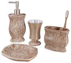 beige stone 4 piece elegant ceramic