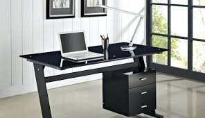 full size of black glass office desk homebase corner furniture computer top depot and exciting large