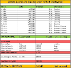 Income Expense Statement Template Help How Do I Report Self Employment Income For Medicaid Or