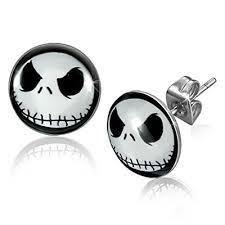 Pair of <b>Nightmare Before Christmas Jack Skellington</b> Ear Studs - Buy ...