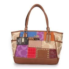 Coach Holiday Matching Stud Large Brown Multi Satchels EBF Is Under Great  Discount Now!Catch Up This Chance!  COACHFACTORY