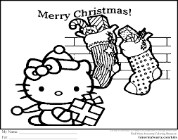 Printable Coloring Pages Hello Kitty Christmaslll L Coloring Activity Sheets For ChristmaslllL