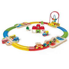 hape wooden train set is the perfect size and educational toy for your toddler