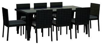 9 piece wicker outdoor patio dining set