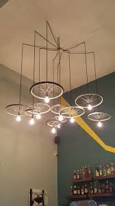 the bicycle chandelier