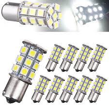 10x 1156 Ba15s 27 Smd 5050 Rv Car Led White Amber Tail Turn Signal Light Bulbs Ebay