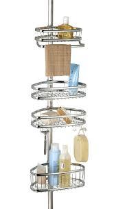 tension pole corner shower caddy best ideas on in teak oil rubbed bronze