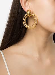 chanel earrings price. chanel vintage logo hoop earrings price s