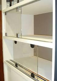 bypass sliding cabinet door hardware tracks