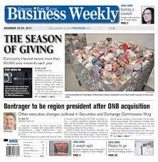 Greater Fort Wayne Business Weekly - Dec. 20, 2013 by KPC Media Group -  issuu