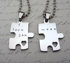 necklace set i love you more
