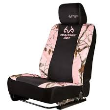 realtree pink camouflage low back bucket seat cover