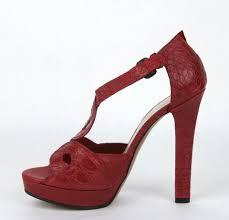Bottega Veneta Red New Crocodile Heel Sandal It 9 307946 6409 Platforms Size Eu 39 Approx Us 9 Regular M B 72 Off Retail