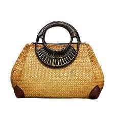 Women Straw <b>Bags</b> Female <b>Bamboo</b> Summer <b>Beach</b> Weave ...