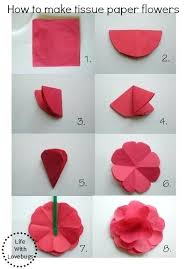 Tissue Paper Flower Instructions How To Make Easy Paper Flowers Easy Paper Flowers Fun Paper Craft By
