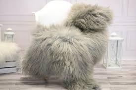 icelandic sheepskin real sheepskin rug gray sheepskin rug fur rug home decor janisl20