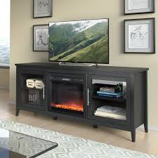 Jackson Black Wood Grain TV Stand And Fireplace 80inches Tv Stand 80 Inches Wide64