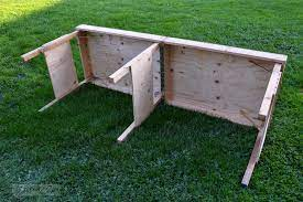 wood plan best diy folding table leg