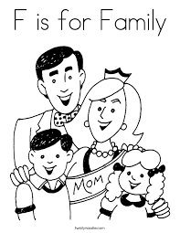 Small Picture F is for Family Coloring Page Twisty Noodle