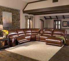 htl 2678cs reclining leather sectional sofa