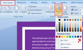 Small Picture How To Change The Page Color in Word Plain Tips