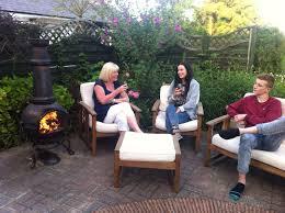 graham s family enjoying the toledo jumbo cast iron chiminea